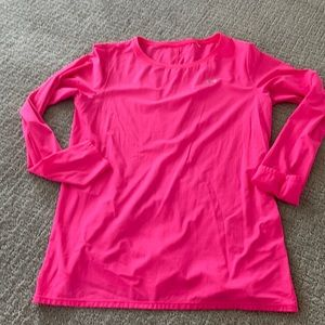 Under armour ladies pink long sleeve M